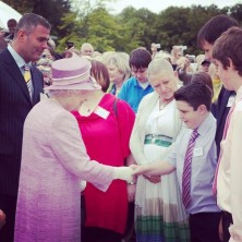 HRH Queen meeting me. She was honoured :D