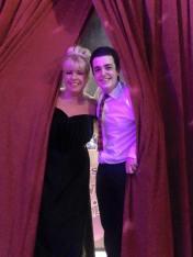 Michelle again, Showbiz curtain pose!