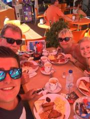 Spanish/British breakfast in Lanzarote