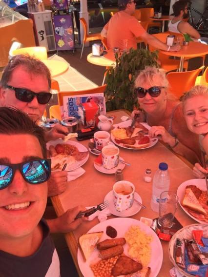 Spanish/British breakfast in Lanzarote