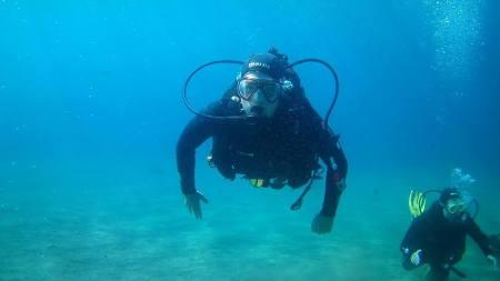 Pretending I can scuba dive!