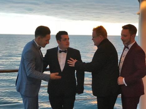 The Boys at sea!